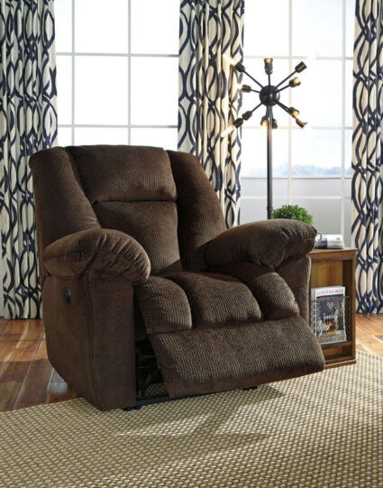 Nimmons Chocolate Power Recliner