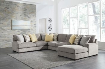 Fallsworth - Smoke - LAF Loveseat, Wedge, Armless Loveseat & RAF Corner Chaise Sectional