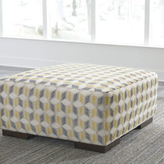 Fallsworth - Smoke - Oversized Accent Ottoman