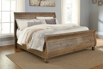 Trishley - Light Brown - Queen Sleigh Bed