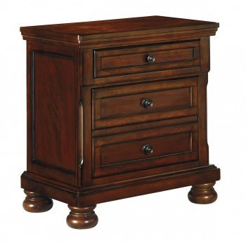 Porter - Rustic Brown - Two Drawer Night Stand