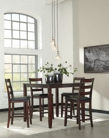 Coviar - Brown - Counter Table Set