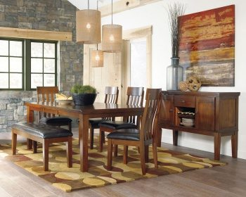 Ralene - Medium Brown - 6 Piece Dining Set