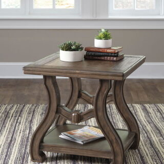 Tanobay - Gray - Square End Table