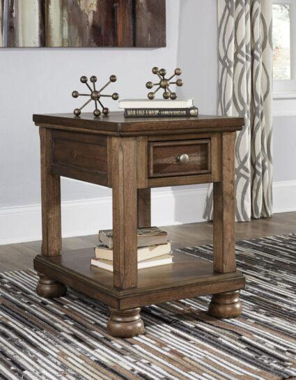 Flynnter Medium Brown Chair Side End Table