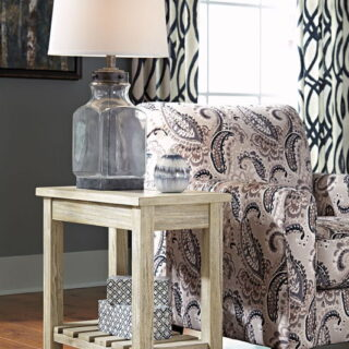 Veldar - Whitewash - Chair Side End Table