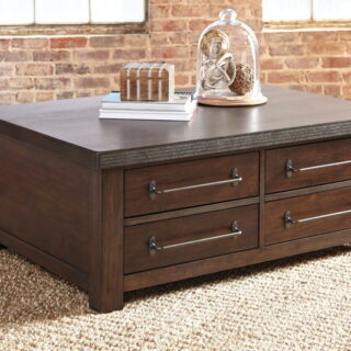 Starmore - Gray/Brown - Cocktail Table with Storage