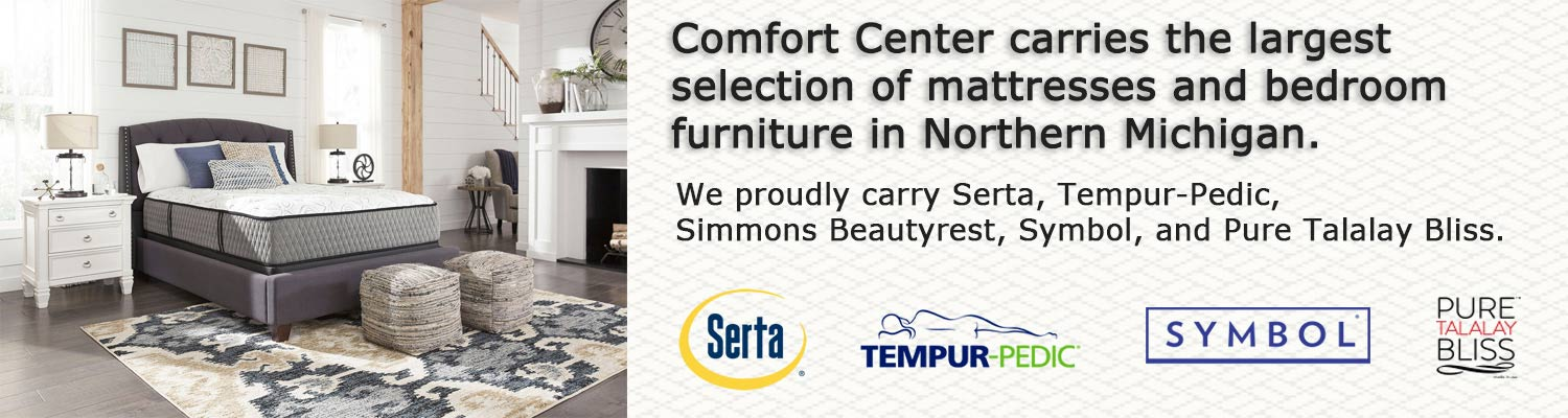 Mattress Brands available at Comfort Center Traverse City