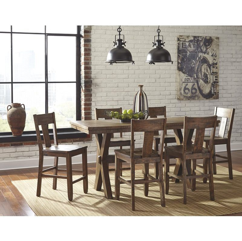 Bolanburg antique white 7 piece rectangular dining for Dining at at t center