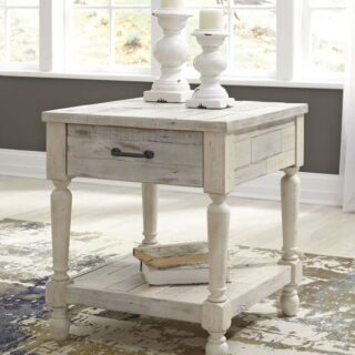 Shawnalore White Wash Rectangular End Table