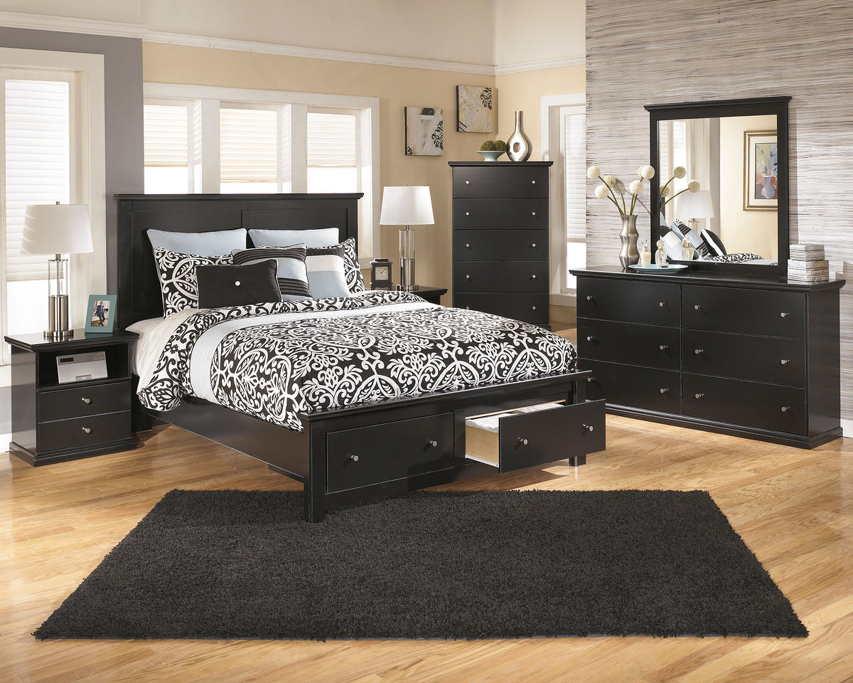 Maribel - 8 Pc. - Dresser, Mirror, Chest, Queen Storage Bed & Nightstand