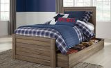 Javarin - Grayish Brown - Twin Panel Bed with Trundle Under Bed Storage