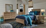 Klasholm - Light Brown - 7 Pc. - Dresser, Mirror, Media Chest, Twin Panel Bed & Nightstand