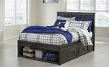 Jaysom - Black - Full Panel Storage Bed
