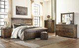Lakeleigh - Brown - 8 Pc. - Dresser, Mirror, Chest, King Panel Bed & 2 Nightstands