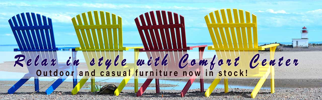 Outdoor furniture now in stock at Comfort Center of Traverse City
