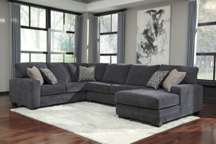 Tracling - Slate - LAF Sofa, Armless Loveseat & RAF Corner Chaise Sectional
