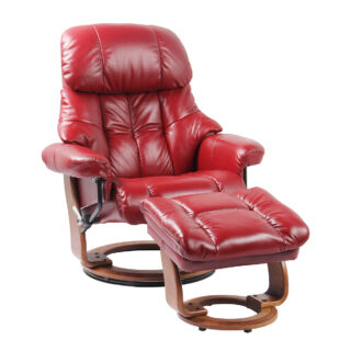 Stress Free Nicholas II High Line Recliner with Ottoman