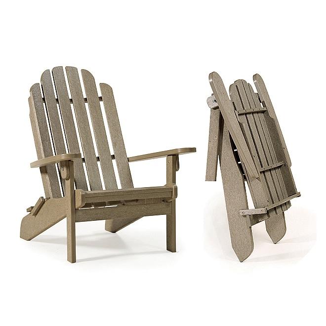 Amish Polytuf Folding Adirondack Chair, Outdoor Furniture Traverse City Michigan