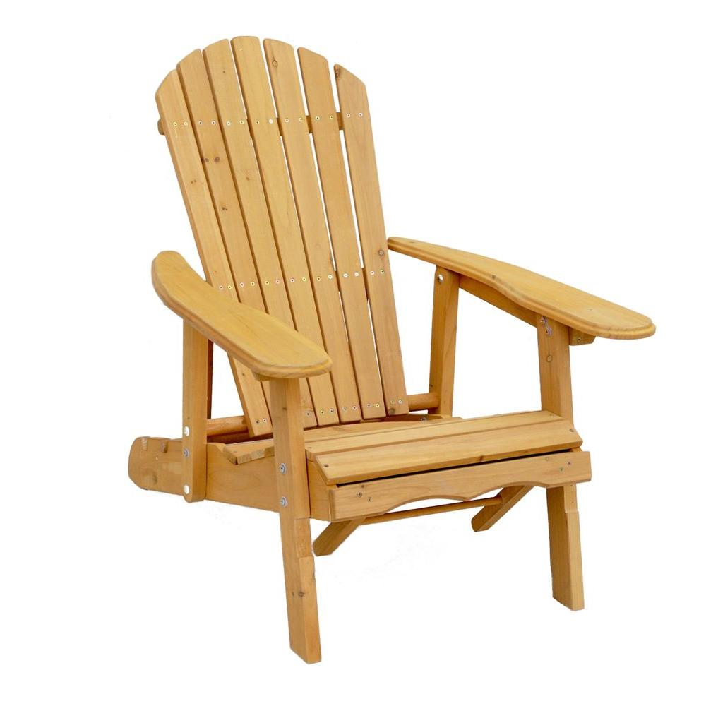 Classic Wood Adirondack Chair Comfort Center Furniture