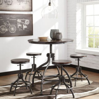 Odium - Brown - Dining Room Counter Table Set