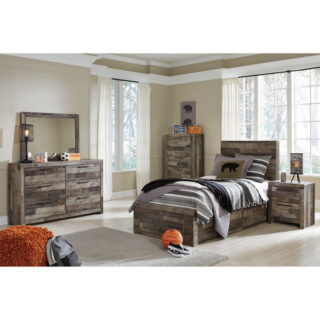 Derekson - Multi Gray - Twin Storage Bed