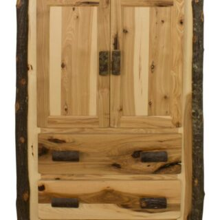 Rustic Hickory Armoire