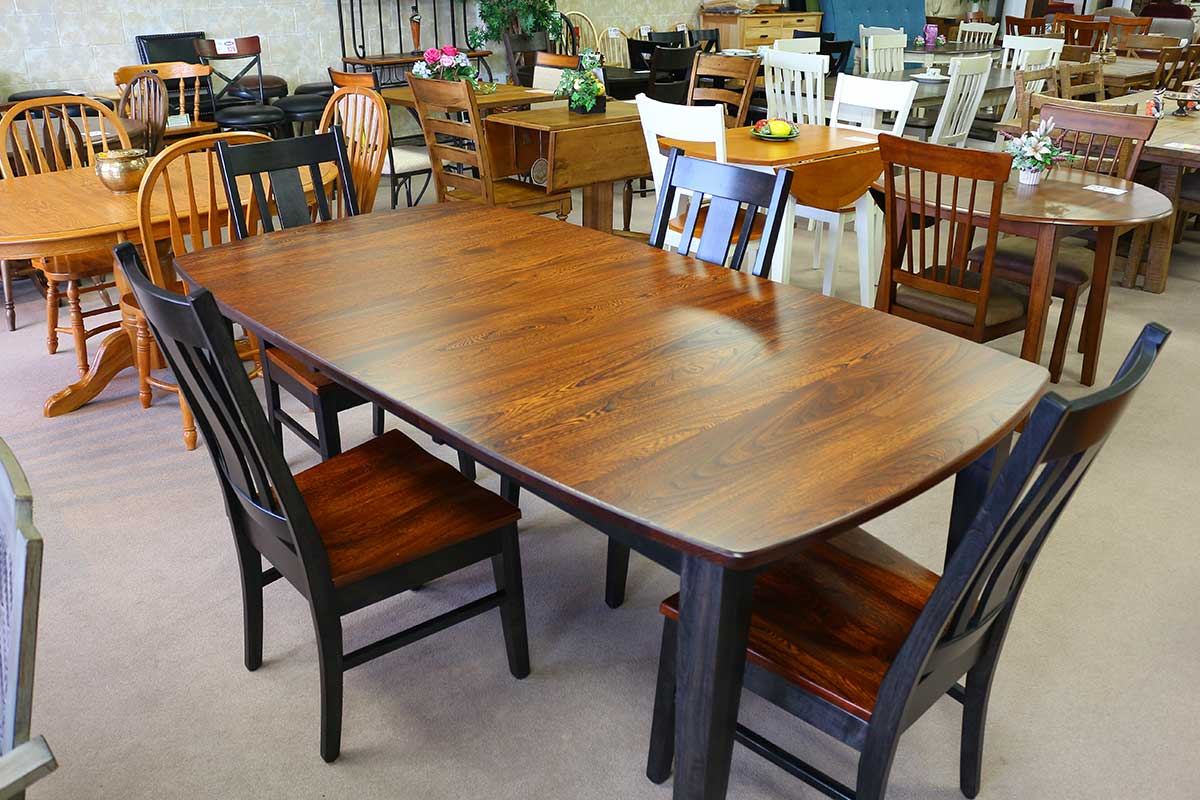 Amish 42 X 60 Leg Table With Four Side Chairs Comfort