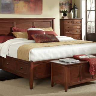 Westlake Cherry Brown Queen Storage Bed