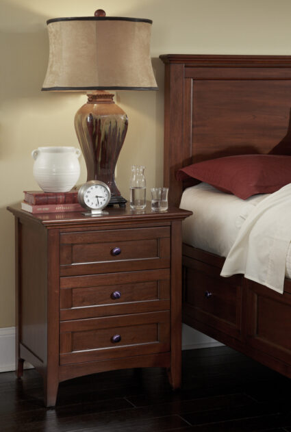 Westlake Cherry Brown 3-Drawer Nightstand