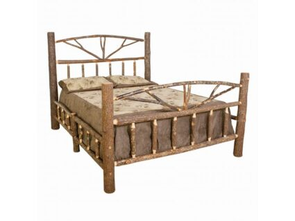 Rustic Hickory Queen Bed