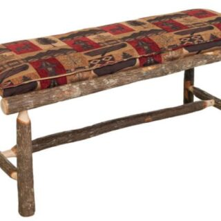 Rustic Hickory Bench