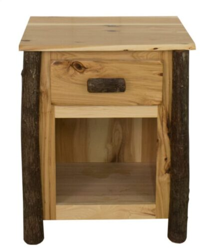 Rustic Hickory Nightstand