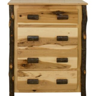 Rustic Hickory 4-Drawer Chest