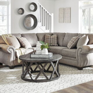 Olsberg - Steel - LAF Sofa with Corner Wedge & RAF Loveseat Sectional