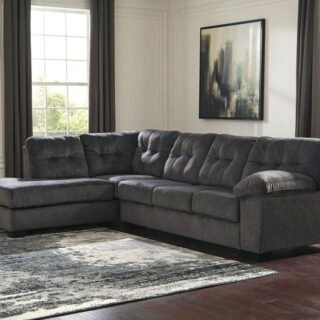 Accrington - Granite - LAF Corner Chaise & RAF Sofa Sectional