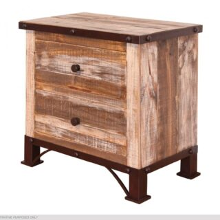 IFD Antique 2 Drawer Nightstand