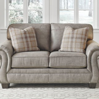 Olsberg Steel Gray Loveseat