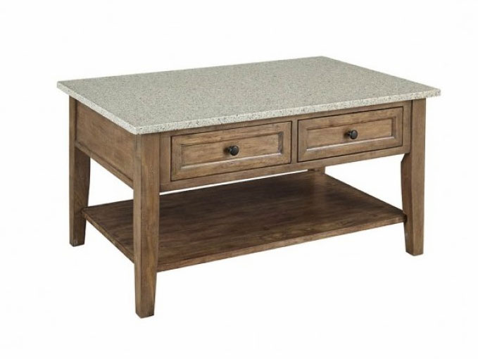 Cloverdale Granite Top Tail Table