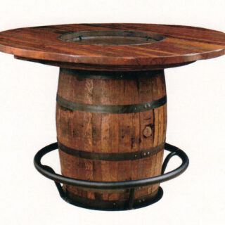 Amish Bourbon Barrel Table