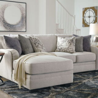 Dellara Chalk LAF Corner Chaise & RAF Loveseat Sectional