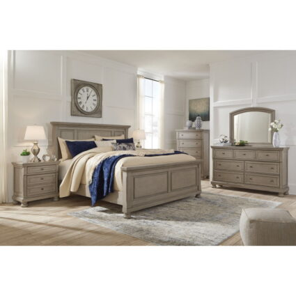 Lettner Light Gray Bedroom Group