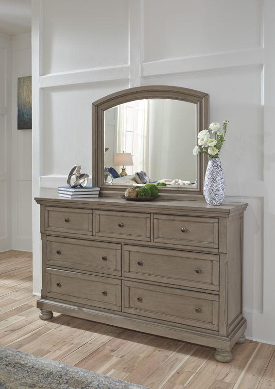 lettner light gray dresser  comfort center furniture and