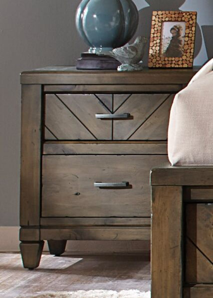 Modern Country 2 Drawer Night Stand