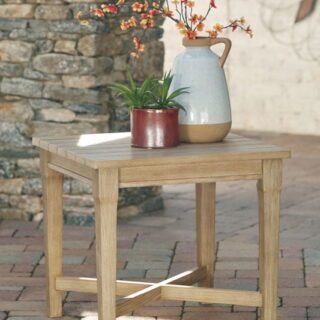 Clare View Beige Square End Table