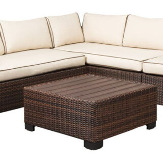 Loughran Beige/Brown Four Piece Sectional