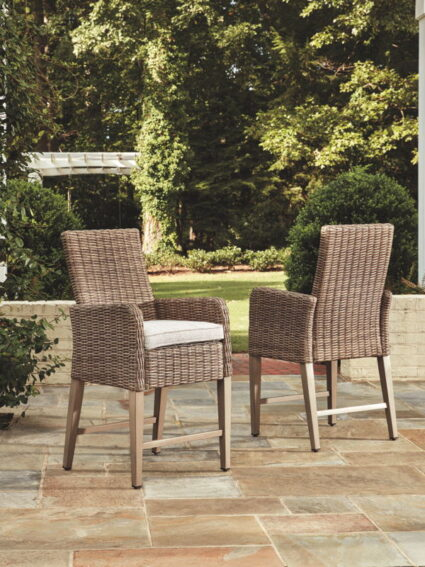 Beachcroft Beige Barstool with Cushion