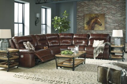 Bancker Six Piece Leather Sectional