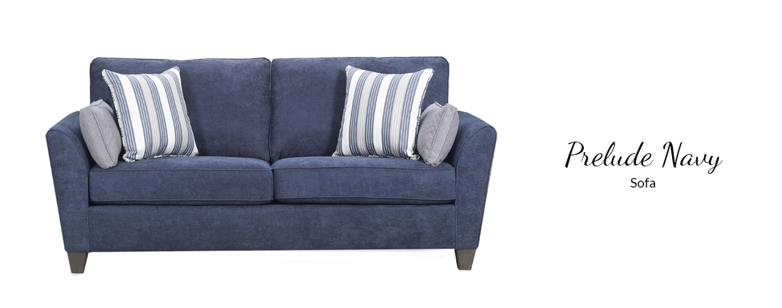 Prelude Navy Sofa Comfort Center Furniture And Mattresses