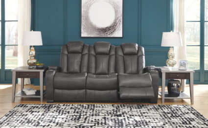 Turbulance Quarry Power Reclining Sofa with Adjustable Headrest